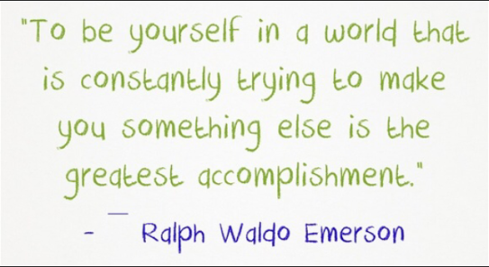 "Many thanks are in order to Ralph Waldo Emerson. Can I get an ""Amen!""?"
