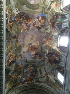 St. Ignatius church fresco...I'm sure I'm in there among the saints...